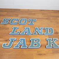 "12 Vintage 1960s Shop Sign Letters ""Scotland"" (5 of 6)"