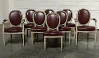 Set of 8 French Dining Chairs Lovely Original Finish (3 of 18)