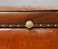 Very Large Victorian Leather Ottoman (3 of 7)