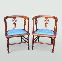 Edwardian Mahogany Salon Suite (3 of 7)