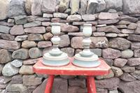 Pair of Swedish 'Folk Art' Large Over-sized Wooden Painted Candlesticks 20th Century (2 of 17)