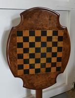 19th Century Inlaid Burr Walnut, Games Table (8 of 9)