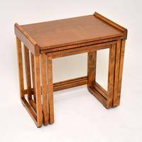 Original Art Deco Figured Walnut Nest of Tables (3 of 11)