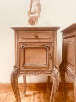 French Antique Bedside Tables / Marble Bedside Cabinets / Louis XV Nightstands (2 of 10)