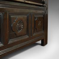 Antique Coffer, French, Oak, Window Seat, Storage Bench c.1700 (8 of 12)