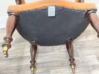 Charming Traditional Victorian Style Tan Brown Office Captains Bankers Chair (29 of 42)