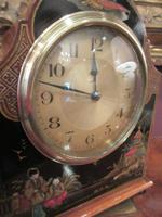 Antique Walnut Cased Chinoiserie Mantel Clock (2 of 7)