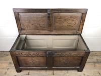 Early 19th Century Antique Oak Coffer Blanket Box (6 of 19)