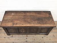 Antique Oak Panelled Coffer (2 of 8)