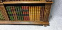 Outstanding Carved Oak Open Library Bookcase (12 of 16)