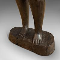 Antique Female Statue, African, Ebony, Hand Carved, Tribal Figure c.1900 (5 of 11)