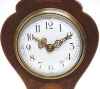 Super Art Nouveau Mantle Clock Tulip Floral Inlay 8 Day Mantle Clock (13 of 15)