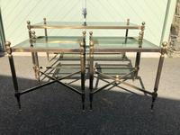 Quality Nest of 3 Brass Tables (5 of 8)