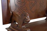 Jacobean Style Oak Monk's Bench (4 of 8)