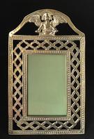 Antique Brass Fretwork Easel Photo Frame. (4 of 6)