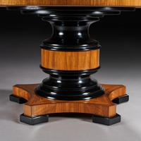 Circular Olive Wood and Ebony Dining Table (4 of 6)