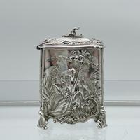 Antique Victorian Sterling Silver Tea Caddy London 1894 George Fox (4 of 12)