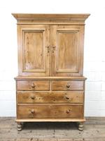 Antique Pine Cupboard with Drawers (2 of 11)