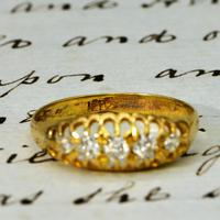 The Antique Edwardian Five Diamond Claw Set Ring (2 of 4)