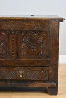 17th Century Oak Carved Coffer with Drawer (6 of 14)