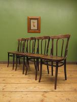 Four Antique Polish Thonet Style Bentwood Bistro Chairs with Pressed Seats (16 of 22)