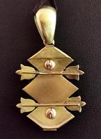 Victorian Blue Enamel & Split Pearl Pendant, 9ct Gold (11 of 12)