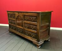 Beautiful 18th Century Georgian Period English Country Oak Mule Chest Sideboard Cabinet (6 of 19)