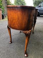 Antique Burr Walnut Kidney Shaped Dressing Table (12 of 12)