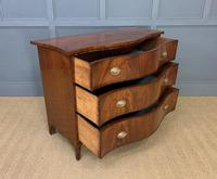 Georgian Flame Mahogany Serpentine Chest of Drawers (9 of 15)