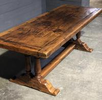 Wonderful French Chestnut Farmhouse Refectory Dining Table