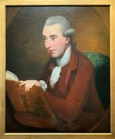 Magnificent Large Mid 18th Century Oil Portrait Painting of a Scholar Gent Reading (12 of 12)