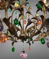 Murano Glass Fruit Venetian 6 Arm Toleware Ceiling Light Chandelier (4 of 9)