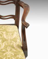 Substantial Early 20th Century Chippendale Style Ladderback Elbow Chair (6 of 8)