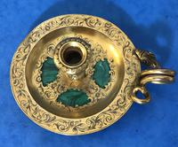 Victorian Gilt Brass Malachite Stationary Desk Set (5 of 17)