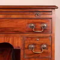 Mahogany Kneehole Desk With Brushing Slide (16 of 17)