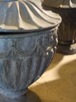 Suite of 8 Late 19th Century Robert Adam Influenced Lead Urns (4 of 4)