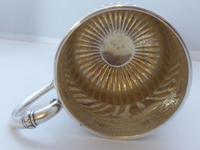 Rare Scottish Glasgow 1882 Solid Silver 1/2 Pint Tankard Christening Mug (5 of 13)