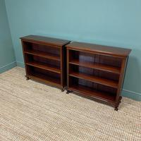 Pair of Edwardian Mahogany Antique Bookcases by John Taylor (5 of 6)