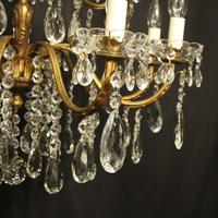 Italian 15 Light Gilded Bronze Antique Chandelier (4 of 10)