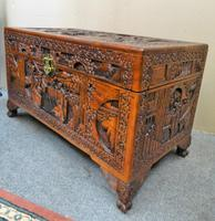 Oriental Carved Camphor Wood Trunk (4 of 7)