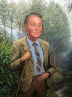 English Portrait Oil Painting Shropshire Titled Gentleman Rosemarie Timmis c.1970 (6 of 10)
