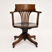 Antique Victorian Swivel Desk  Chair (3 of 12)