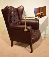 Edwardian Mahogany Leather Wing-back Armchair (8 of 10)