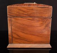 Antique Victorian walnut jewellery box, fitted (6 of 9)