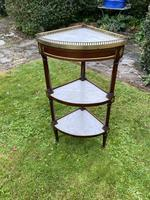 French Corner Stand in Mahogany & Marble (4 of 4)