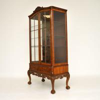 Burr Walnut Display Cabinet c.1930 (6 of 11)