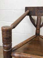 Antique Carved Oak Corner Chair (4 of 10)