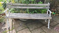 19th Century Cast-iron and Oak Garden Bench (4 of 6)