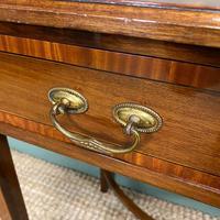 Elegant Edwardian Mahogany Antique Writing Table (2 of 7)