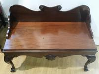Unusual 19th Century Irish Mahogany Hall Bench (5 of 9)